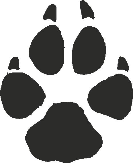 Grey Wolf Paw Print Tracks - Decals Stickers