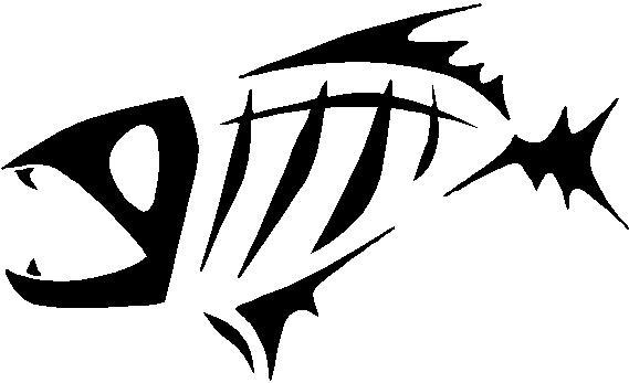 Piranha skeleton tattoo - photo#6