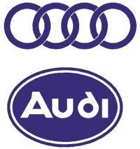 Audi logo and Rings