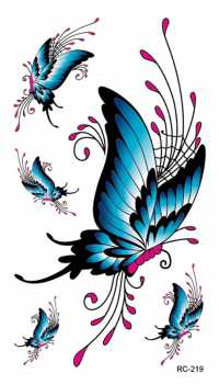 Blue Butterflies Temporary Tattoos