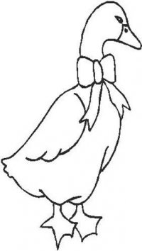 Duck with a Ribbon