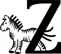 "Kids Illustrated Letter ""Z"""