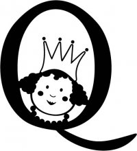 "Kids Illustrated Letter ""Q"""