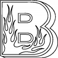 B Flames Letter