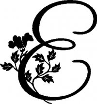 "Floral Illustrated Letter ""E"""