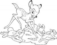 Bambi with Thumper and Friends