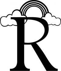 "Kids Illustrated Letter ""R"""