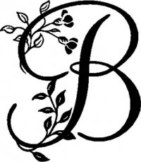 "Floral Illustrated Letter ""B"""