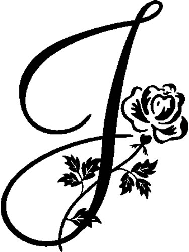 floral illustrated letter j   decals and stickers  the home of quality decals and stickers