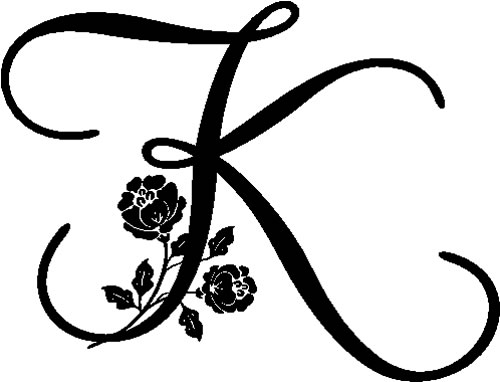 floral illustrated letter k   decals and stickers  the home of quality decals and stickers