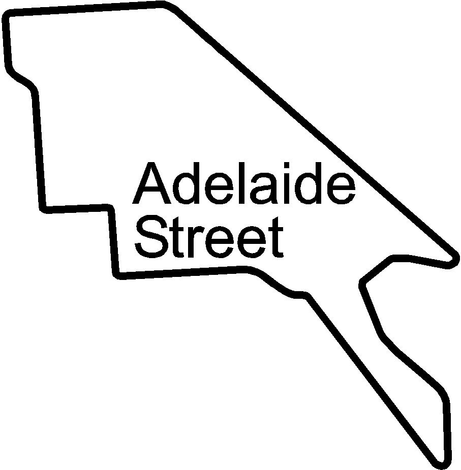 adelaide street circuit racetrack   decals and stickers