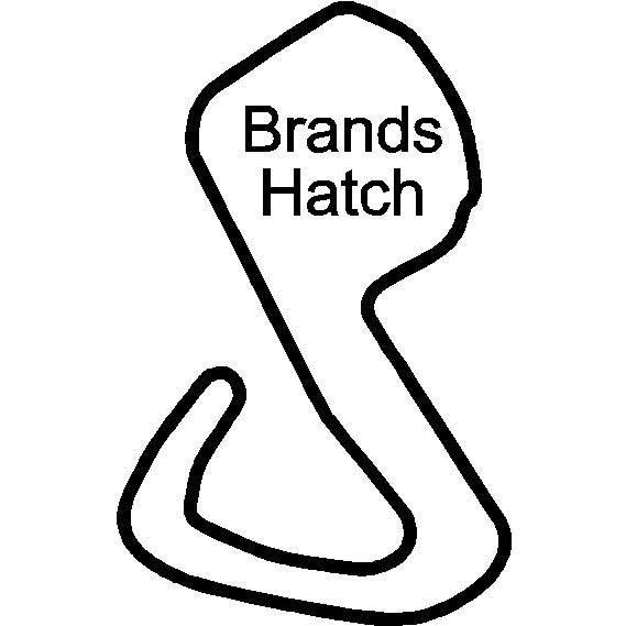 brands hatch circuit racetrack   decals and stickers  the