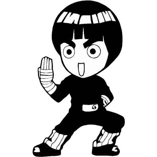 Chibi Rock Lee Manga Anime Decals And Stickers The Home