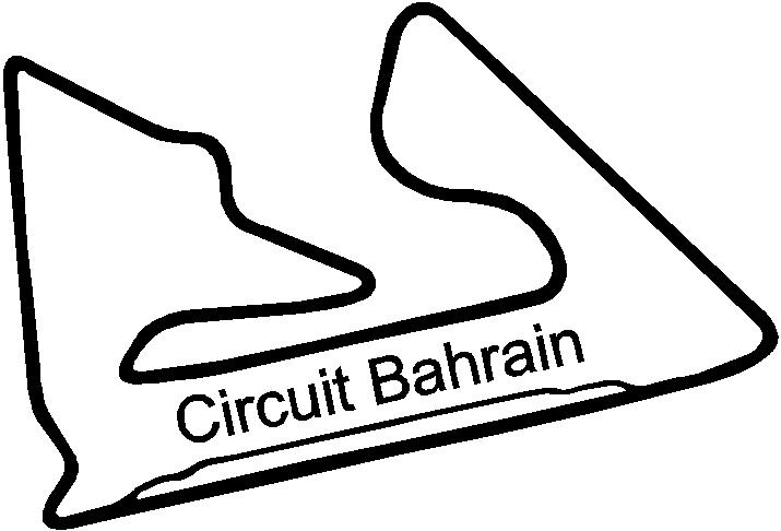 bahrain circuit racetrack   decals and stickers  the home