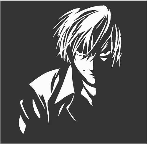 Deathnote Light Yagami Kira Manga Anime Decals And