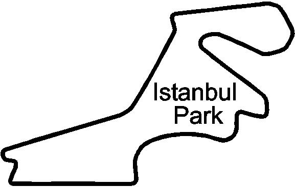 istanbul park circuit racetrack   decals and stickers  the