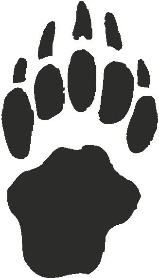 badger paw print tracks   decals and stickers  the home of quality decals and stickers