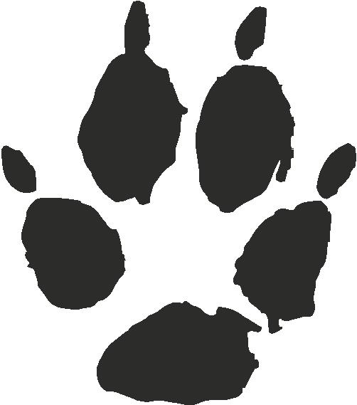 Kit Fox Paw Print Tracks Decals And Stickers The Home