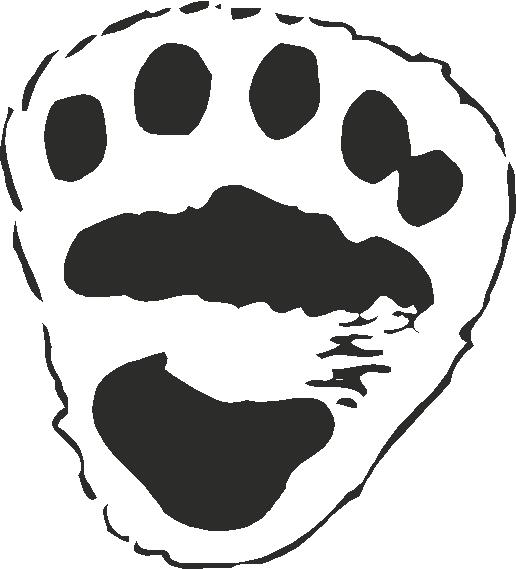 Polar Bear Paw Print Tracks Decals And Stickers The