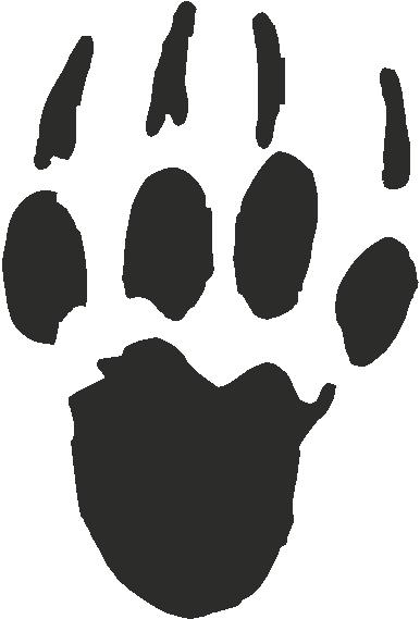 Porcupine Paw Print Tracks Decals And Stickers The Home