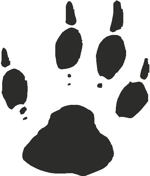 Woodchuck Paw Print Tracks Decals And Stickers The Home